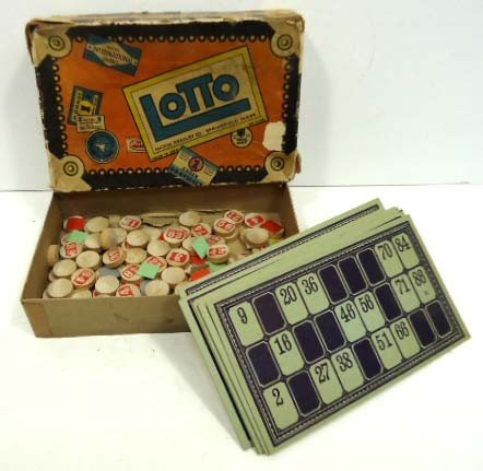 13: Milton Bradley Lotto game