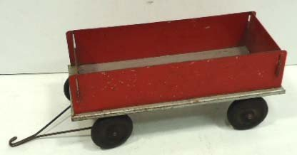 17: Metal Farm Wagon Toy
