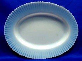 Dep. Glass Petal Ware Platter