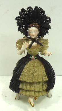 Occ. Japan Dresden Lace Figure