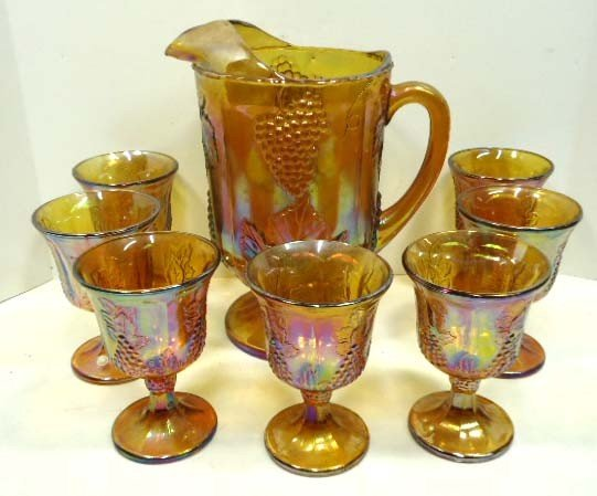 42: Indiana Glass Carnival Water Set