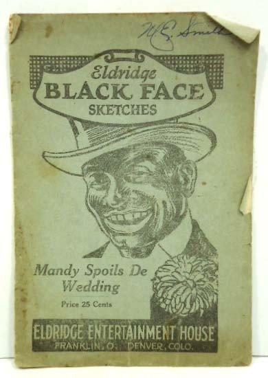 49: 1922 Eldridge Black Face Sketches Book