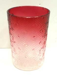 Vict. Cranberry Diamond Pattern Tumbler