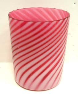 Vict. Cranberry Opalescent Swirl Tumbler