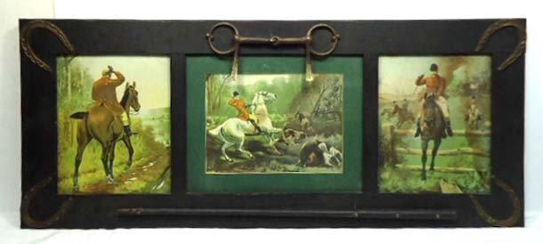 15B: Triple Fox Hunt Print Great Frame
