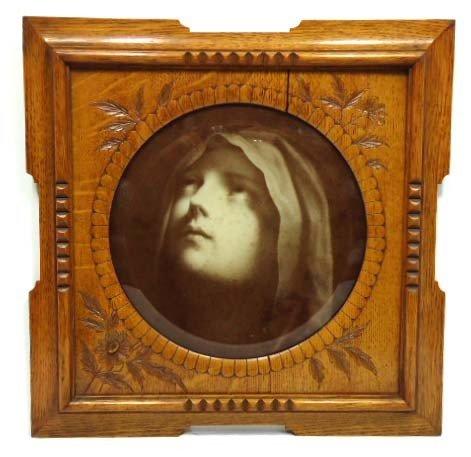 33B: Print In Carved Oak Frame