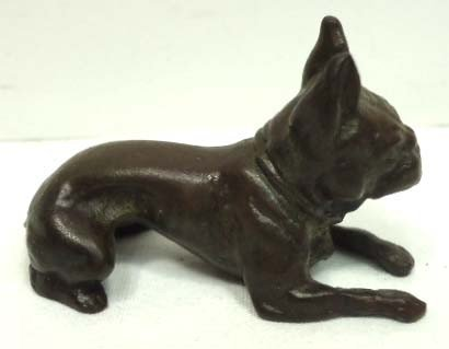 154A: Bronze Dog Paperweight Signed Tiffany - 2