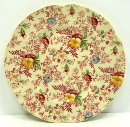 10: Johnson Bros. Old English Chintz Plate