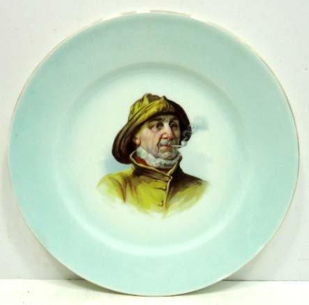 24: Cauldon England Portriat Plate Fisherman