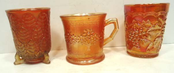 73: 3pc Carnival Glass