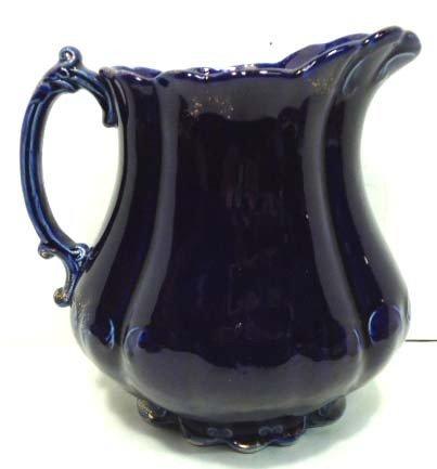 91: Blue Pottery Pitcher