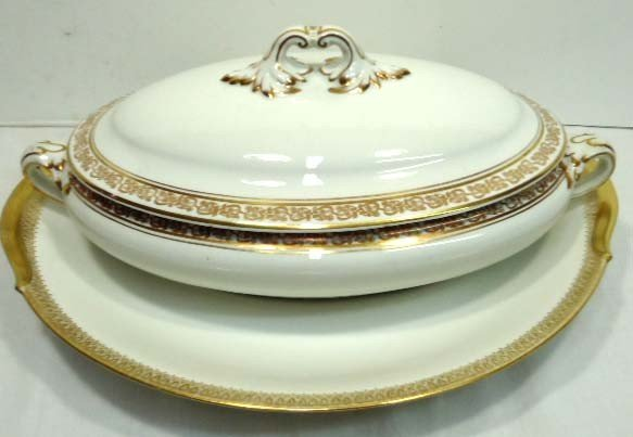 147: Limoges Tray & Booths Tureen