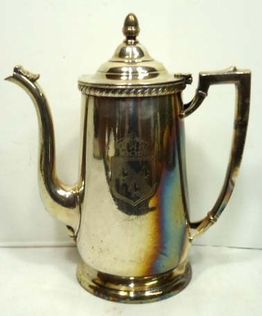 149: Silver Soldered Coffee Pot