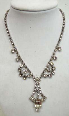 5A: Vintage Rhinestone Necklace
