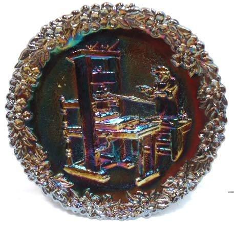 60: Fenton Carnival Glass Plate