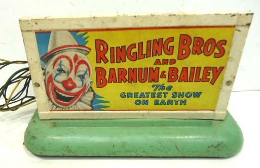 140C: Am. Flyer Ringling Bros. Barnum & Bailey Sign