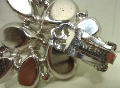 4: Vtg. Weiss Stacked Rhinstone. Brooch & Earrings - 8
