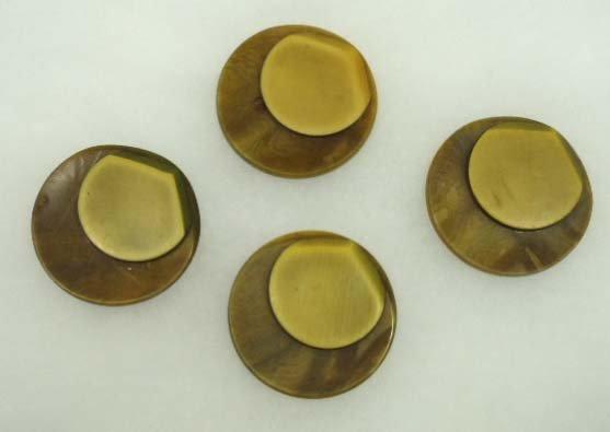 10: 4 Vtg. Deco Coat Buttons