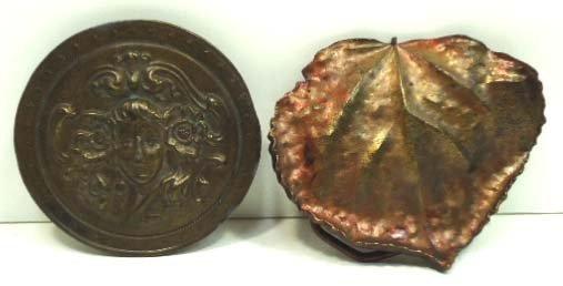 103: Vtg Bergamot Brass Works & Linden Leaf Buckles