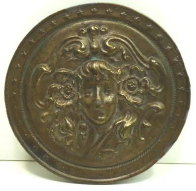103: Vtg Bergamot Brass Works & Linden Leaf Buckles - 2