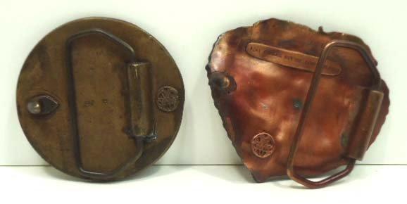 103: Vtg Bergamot Brass Works & Linden Leaf Buckles - 4