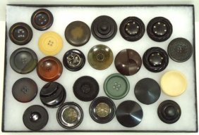 25 Vtg. Antique Coat Buttons