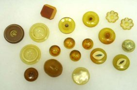 Vtg. Apple Juice ? Antique Buttons