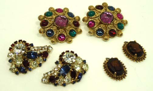 206: Vtg. Sphinx, Hobe, Florenza Earrings