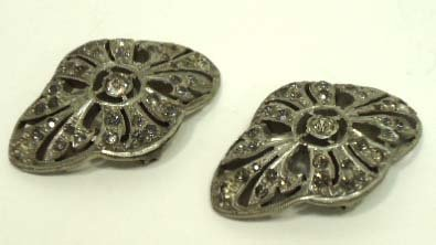 208: Vtg. Pr. Early Trifari Shoe/Belt Buckles