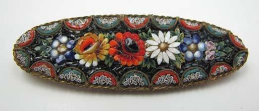 Lg Vict Micro Mosaic Brooch