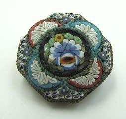 Italian Micro Mosaic Brooch