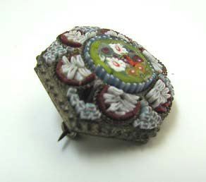 Italian Micro Mosaic Brooch - 2