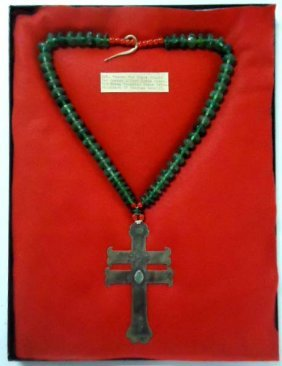211: Fr. Fur Trade Silver Cross Necklace