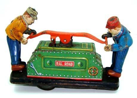 8: Wind Up Tin RR Hand Car
