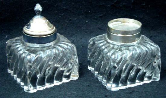9: Pr Glass Inkwells
