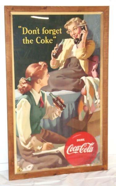220: 1949 Coca Cola Adv. Sign