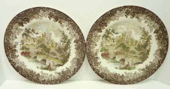 4: 2pc. Meakin Derbyshire Plates