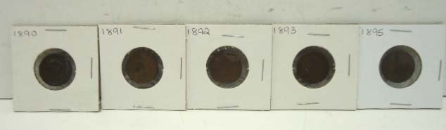 11: 5 Indian Head Pennies