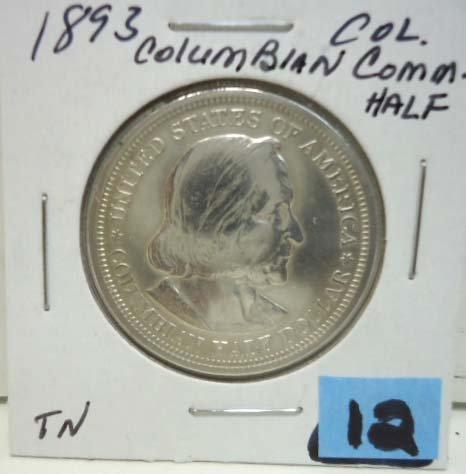 12: 1893 Columbian Comm. Half Dollar