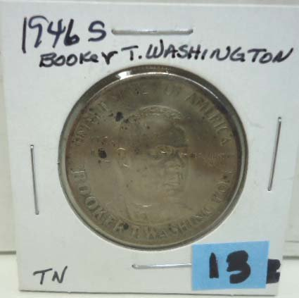 13: 1946 S Booker T. Washington Half Dollar