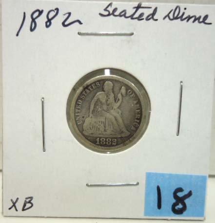 18: 1882 Seated Dime