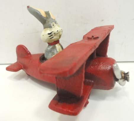 21: Cast Iron Toy Airplane