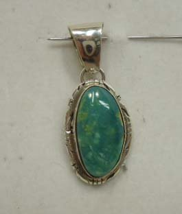 8: Navajo Sterling & Turquoise Pendant