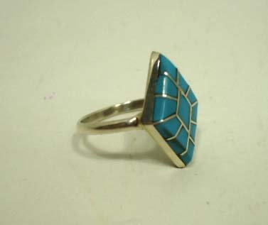 10: Zuni Sterling & Turquoise Ring