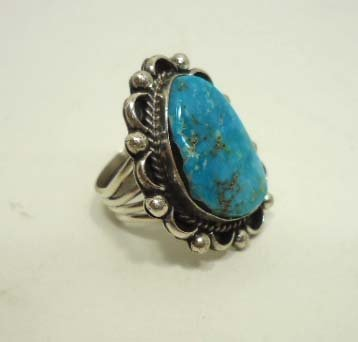 11: Navajo Sterling & Turquoise Ring