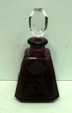 20: Amethyst Cut Glass Perfume Bottle