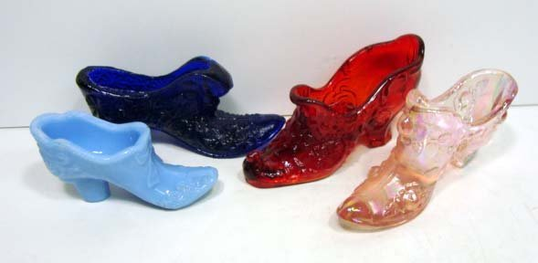8: 4 Fenton Glass Shoes