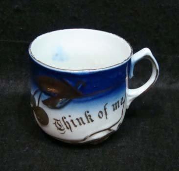 14: Flow Blue Victorian Cup