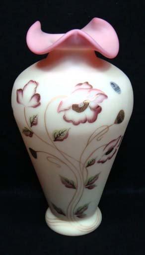16: Fenton Burmese Vase