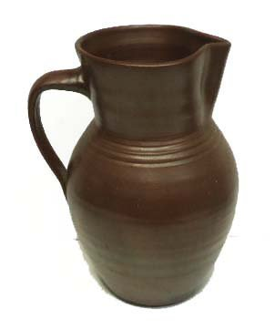 7: Early Brown Stoneware Pitcher